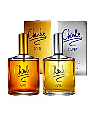 Charlie Gold and Silver 100ml EDT BOGOF