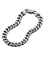 Oxidised Silver Gents 3/4oz Bracelet