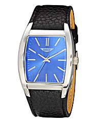 Label J Gents Black Strap Watch