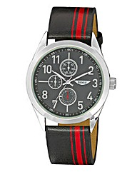 Label J Gents Striped Strap Watch