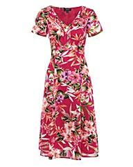 Pomodoro Floral Print Short Sleeve Dress