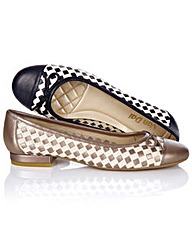 Van Dal Weave Effect Leather Pumps