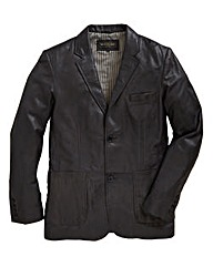 Williams & Brown Leather Blazer