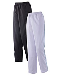 Body Star Pack of 2 Woven Pants 30in