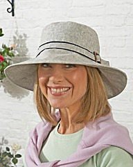 Linen Wide Brimmed Hat