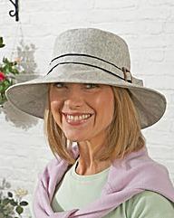 Linen Wide Brimmed Hat