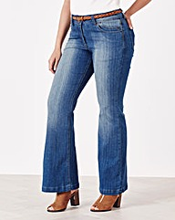 Simply Be Eve Bootcut Jeans Short