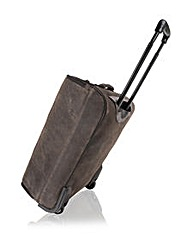 Woodland Leather Collapsible Suitcase