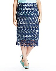 Ava By Mark Heyes Crochet Skirt