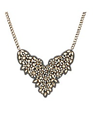 Mood Crystal Embellished Fabric Necklace
