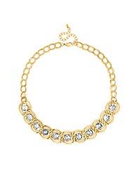 Mood Stone Set Knot Surround Necklace