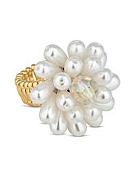 Mood Pearl Cluster Stretch Ring