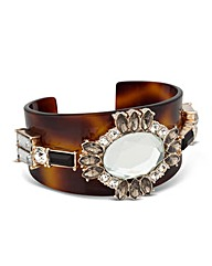 Mood Stone Set Tortoiseshell Effect Cuff