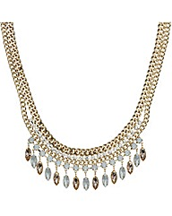 Mood Multi Chain Navette Drop Necklace