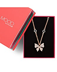 Mood Crystal Butterfly Drop Necklace