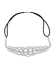 Mood Diamante Crystal Patterned Headband