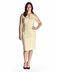 Edit Brocade Mesh Dress
