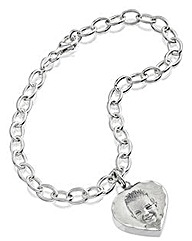 Silver Personalised Photo Bracelet