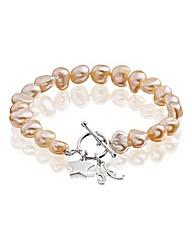 Personalised Star Charm Pearl Bracelet