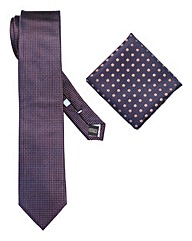 Williams & Brown London Pin Dot Tie Set