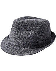 Black Label Grey Tweed Trilby