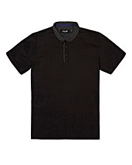 Black Label Double Collar Trim Polo L