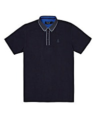 Black Label Placket Detail Pique Polo L