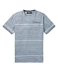 Black Label Stripe Jacquard Trim Tee R