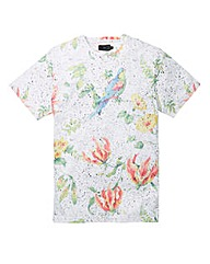 Label J Nep Floral Print T-shirt Regular