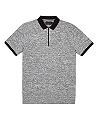 Label J Space Dyed Zip Neck Polo Regular