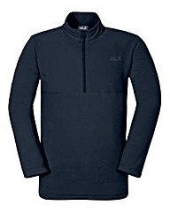 Jack Wolfskin Navy Gecko Zip Fleece