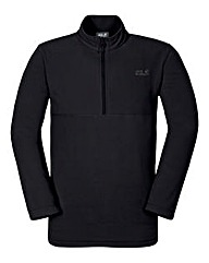 Jack Wolfskin Black Gecko Zip Fleece