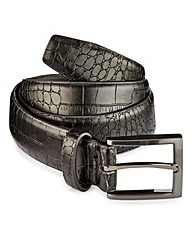 Black Label Mock Croc Belt