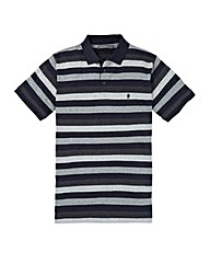 French Connection Grey Stripe Polo