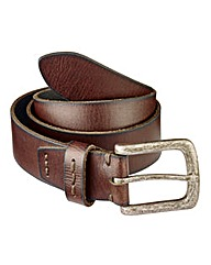 Label J Distressed Buckle Belt