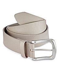 Label J Grey Leather Belt