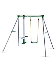 Plum Metal Helios Swing Set