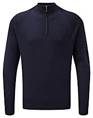 Tog24 Calder Mens Merino Zip Neck