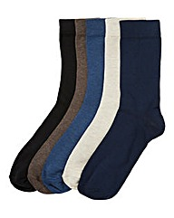 Southbay Pack of 5 Mixed Socks