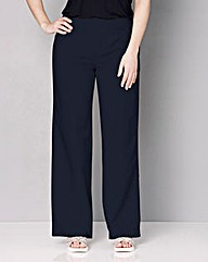 Slouch Linen Mix Wide Trousers Regular