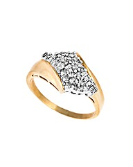 9ct Gold 0.33ct Baguette Diamond Ring