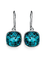 Indicolite Crystal Drop Earrings