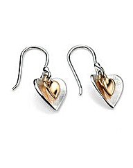 Gold Plated Double Heart Earring