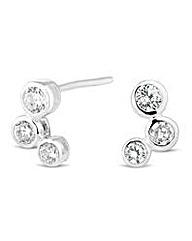 Simply Silver Triple Bubble Stud Earring