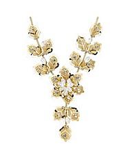 Jon Richard Crystal Mesh Flower Necklace