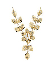 Jon Richard Crystal Mesh Flower Necklace