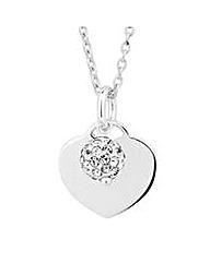 Simply Silver Crystal Ball Heart Pendant