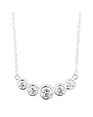 Simply Silver Round Bar Necklace