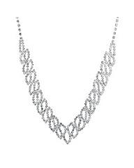 Jon Richard Diamante Swirl Drop Necklace