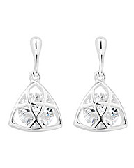 Simply Silver Caged Drop Earring